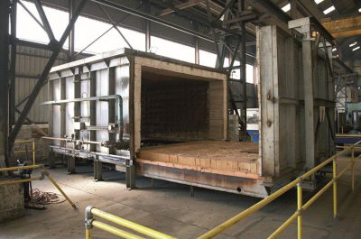 Our post-cutting and pre-grinding heat treatment oven