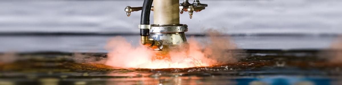 P.P. Plasmas Submerged plasma cutting facility