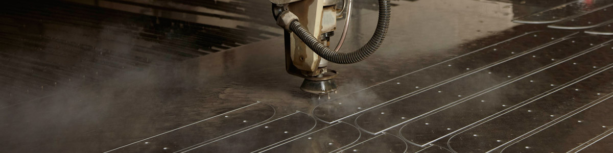 Twin Headed Water Jet Cutting